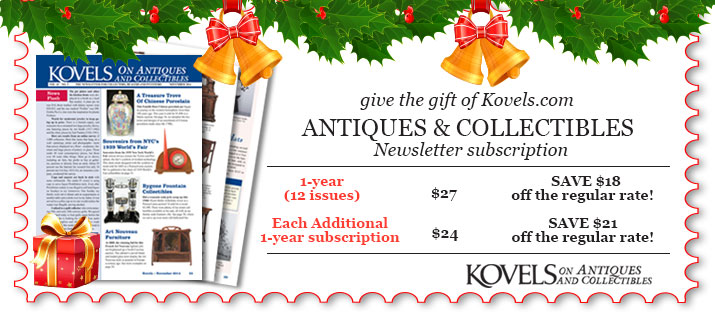 Gift Order Form, Kovels on Antiques and Collectibles, gift the gift of a Kovels Newsletter